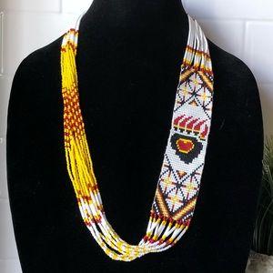 Jewelry - Stunning Tribal Necklace Bear Paw Love 🐻 🐾